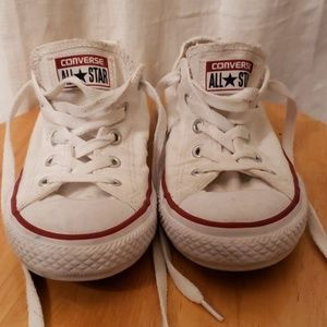 White converse shoes youth size 2